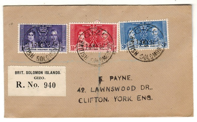 SOLOMON ISLANDS - 1937 registered