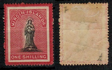 BRITISH VIRGIN ISLANDS - 1867 1/- black and rose with LONG TAILED S variety mint.  SG 18a.