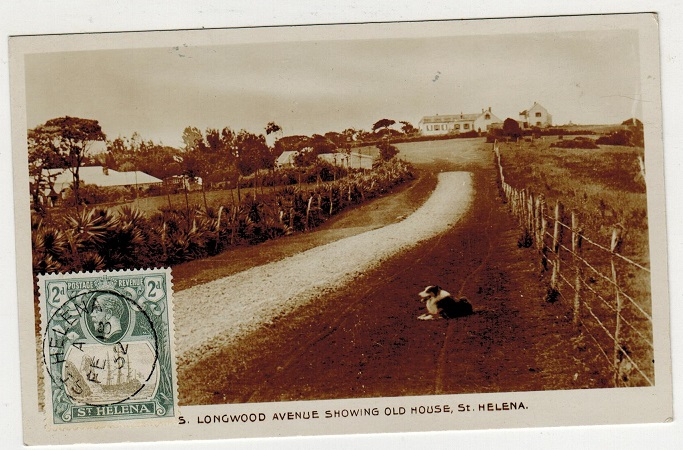 ST.HELENA - 1932 2d rate postcard use to Italy.