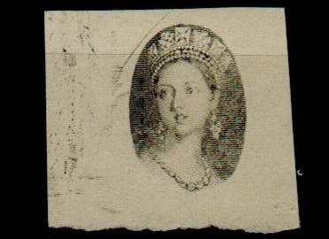 NATAL - 1859 IMPERFORATE PROOF of the head in oval printed in black.