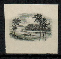 COOK ISLANDS - 1938 3/- IMPERFOPRATE PLATE PROOF of the vignette in black.