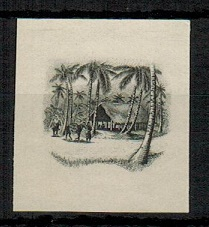 COOK ISLANDS - 1938 2/- IMPERFORATE PLATE PROOF of the vignette in black.