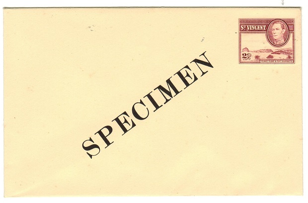 ST.VINCENT - 1949 2c brown PSE unused SPECIMEN.  H&G 3.