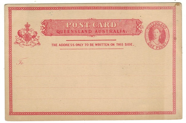 AUSTRALIA (Queensland) - 1880 1d salmon PSC unused.  H&G 1b.