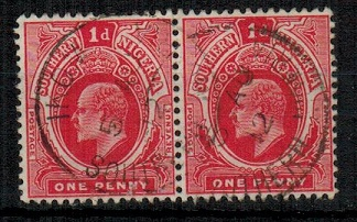 SOUTHERN NIGERIA - 1912 1d pair cancelled IKOM.