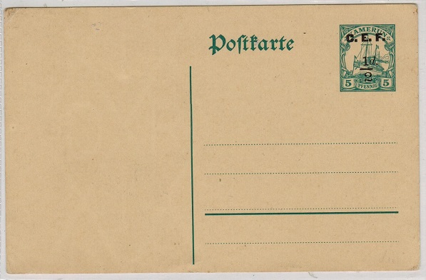 CAMEROONS - 1915 1/2d on 5pfg green