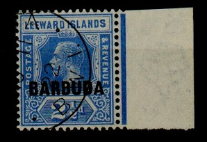 BARBUDA - 1922 2 1/2d bright blue used with INVERTED WATERMARK.  SG 4w.