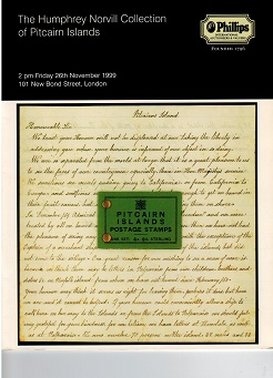 PITCAIRN ISLANDS - H.Norvill collection. Phillips auction catalogue