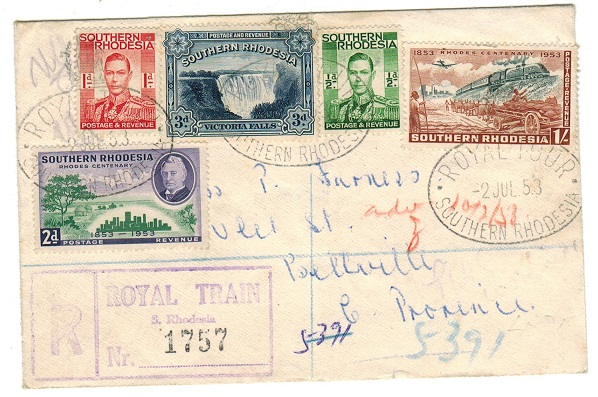 SOUTHERN RHODESIA - 1953 registered