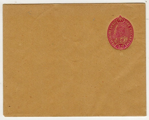 INDIA (Travancore-Cochin) - 1945 1ch claret PSE unused.  H&G 14.