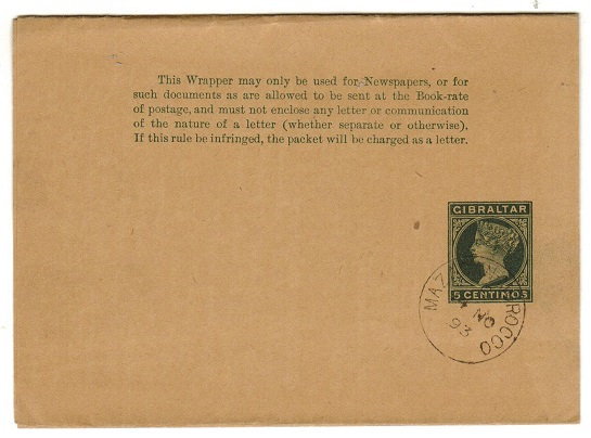 MOROCCO AGENCIES - 1896 5c green stationery wrapper