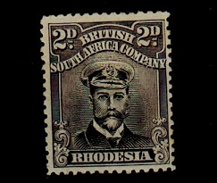 RHODESIA - 1913 2d black and grey
