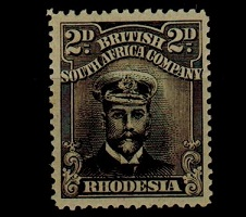RHODESIA - 1913 2d black and brownish grey
