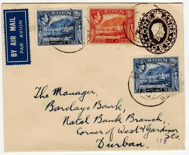 ADEN - 1937 1a deep brow PSE uprated to South Africa.  H&G 2.