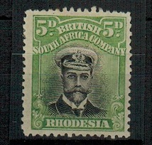 RHODESIA - 1913 black and bright green