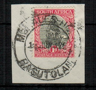 BASUTOLAND - 1922 South African 1d adhesive used in MOHALESHOEK.
