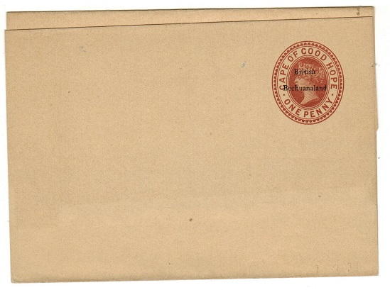 BECHUANALAND - 1885 1d red-brown postal stationery wrapper unused.  H&G 2.