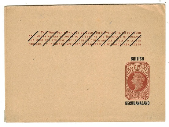 BECHUANALAND - 1889 1/2d red brown postal stationery wrapper unused.  H&G 7.
