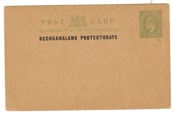 BECHUANALAND - 1907 1/2d yellow green PSC unused.  H&G 3.