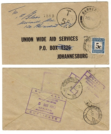SOUTH AFRICA - 1962 5c