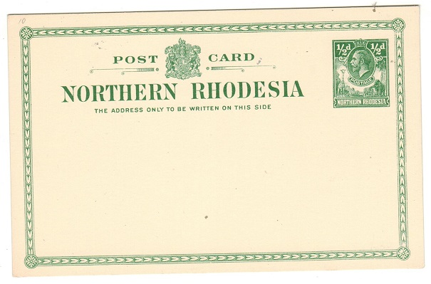 NORTHERN RHODESIA - 1930 1/2d green PSC unused.  H&G 3.