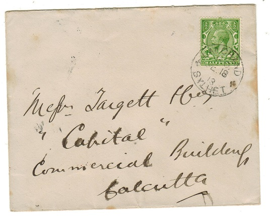 INDIA - 1913 local cover with