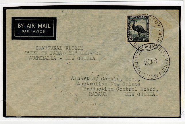 PAPUA - 1947 first flight cover to Rabaul.