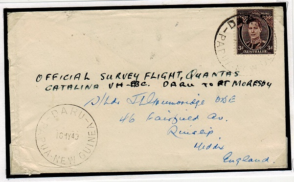 PAPUA - 1949 first flight cover to UK.