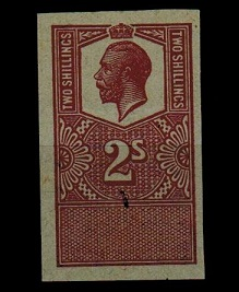 GREAT BRITAIN - 1913 2/- PLATE PROOF of the REVENUE issue.