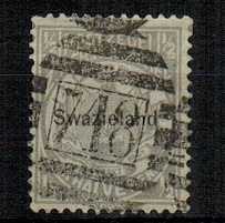 SWAZILAND - 1889 1/2d grey cancelled by
