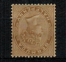 BERMUDA - 1880 1/2d stone (unused/no gum) with WATERMARK INVERTED.  SG 19w.