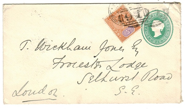AUSTRALIA (Tasmania) - 1882 2d green uprated PSE used at DEVONPORT.  H&G 1.