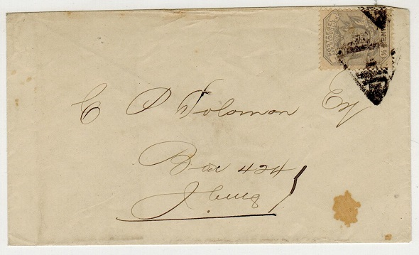 TRANSVAAL - 1885 (circa) 1/2d rate cover addressed locally struck by