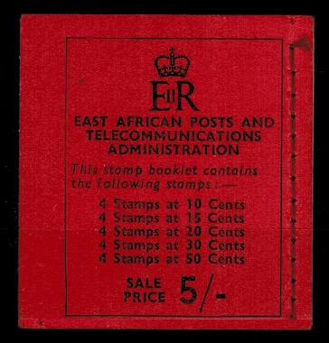 K.U.T. - 1961 5/- black and red BOOKLET.  SG SB9.