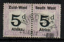 SOUTH WEST AFRICA - 1923 5d black and violet