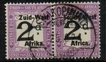 SOUTH WEST AFRICA - 1923 2d black and violet