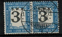 SOUTH WEST AFRICA - 1928 3d black and blue