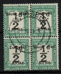 SOUTH WEST AFRICA - 1923 1/2d black and green