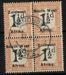 SOUTH WEST AFRICA - 1926 1 1/2d black and yellow brown