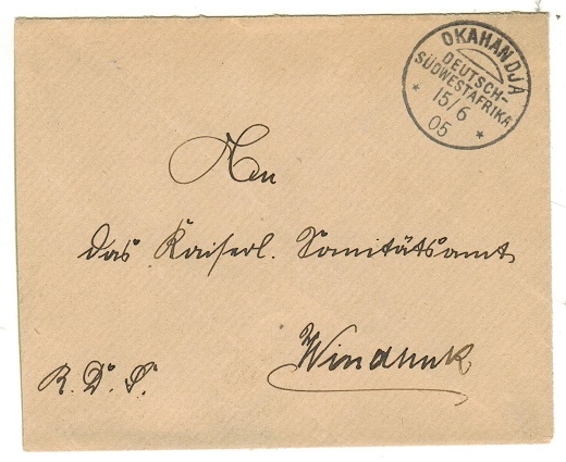 SOUTH WEST AFRICA (German Offices) - 1905 stampless local cover used at OKAHANDJA.