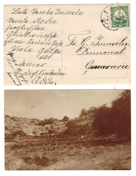 SOUTH WEST AFRICA (German Offices) - 1905 5pfg rate postcard use used at OUTJO.