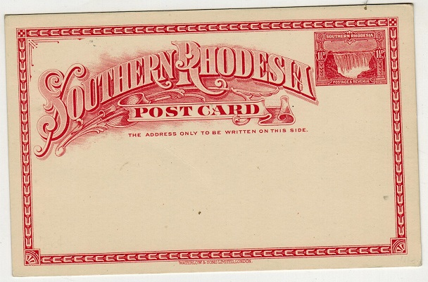 SOUTHERN RHODESIA - 1931 1 1/2d rose PSC unused.  H&G 4.