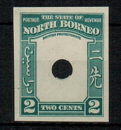 NORTH BORNEO - 1939 2c (SG type 82) IMPERFORATE PLATE PROOF of the frame only.