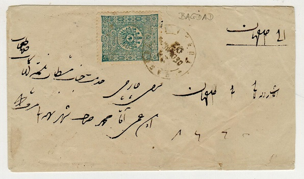 IRAQ (Turkey used in) - 1902 1p rate cover used at BAGDAD.