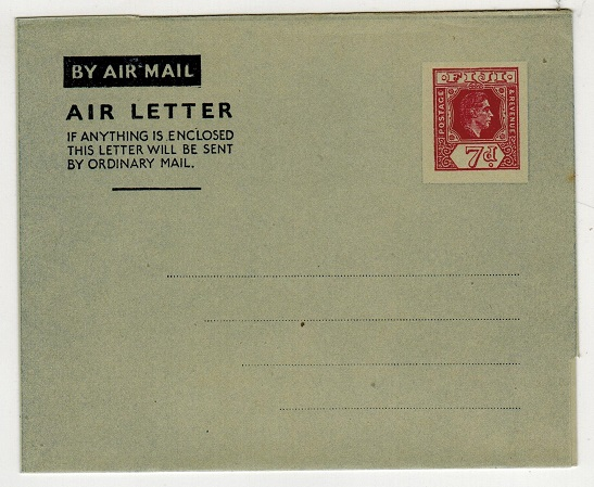 FIJI - 1947 7d maroon air letter unused.  H&G 1.