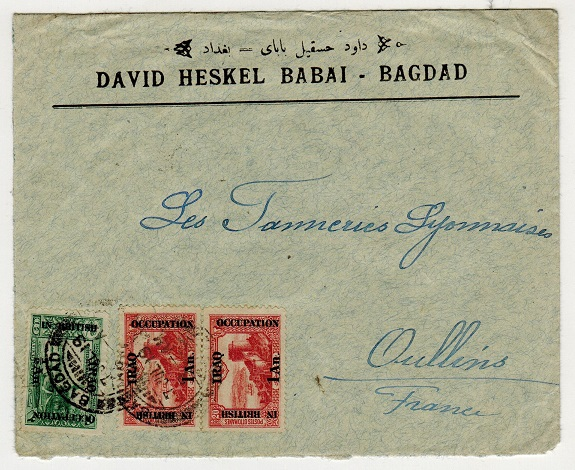 IRAQ - 2 1/2a rate cover to France used at BAGDAD.