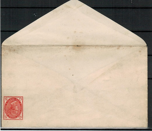 AUSTRALIA (New South Wales) - 1888 1d brick red PSE unused with STAMP INVERTED  H&G 7.