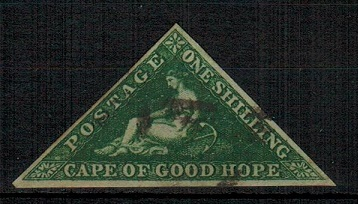CAPE OF GOOD HOPE - 1855-63 1/- deep dark green