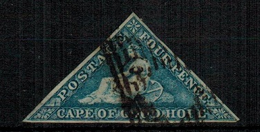 CAPE OF GOOD HOPE - 1863-64 6d steel blue