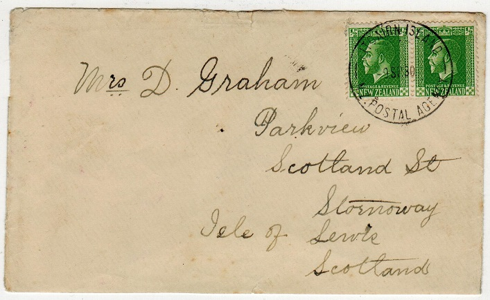 PITCAIRN ISLAND - 1930 1d rate cover to UK.
